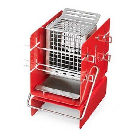 Barbecue portatile a carbonella silo grill a5 colore rosso - Barbecue portatile a carbonella ...