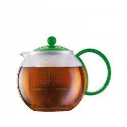 Teiera in vetro con manico...